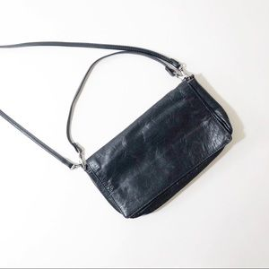 HOBO clutch crossbody wallet small purse black